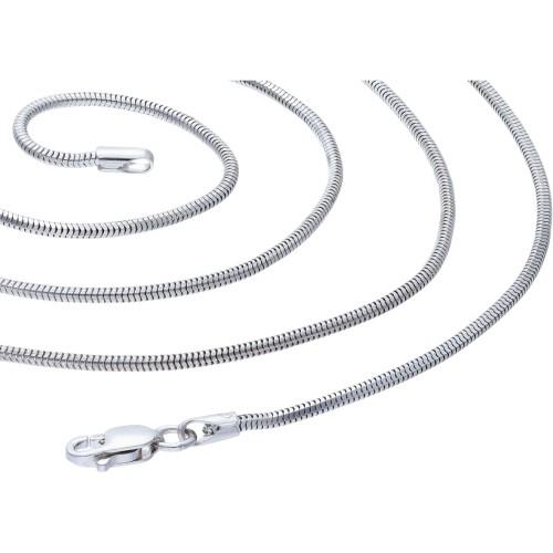 Schlangenkette für Damen aus 585er (14k) Weißold in 50 cm ca. 5,1g