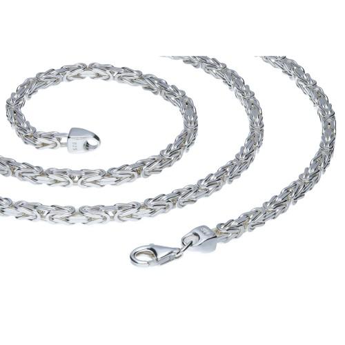 massive, diamantierte 925 Sterling-Silber Königskette (37,6g 65cm Länge, 3,1mm Breite)
