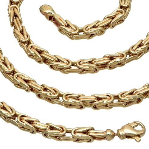 Königskette aus 585er Gelbgold (14k)- 66cm lang, 4 mm breit, 26,3g