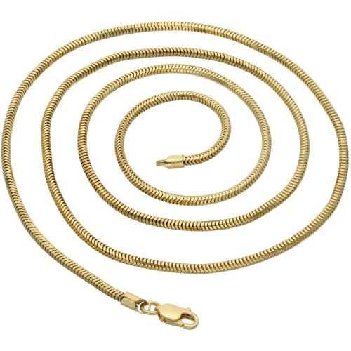 Schlangenkette für Damen aus 585er (14k) Gold in 55 cm ca. 9,8g
