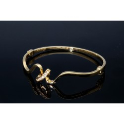 modern designter Damenarmreif aus hochqualitativem 14k Gold (585)