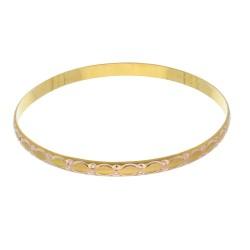 bildhübscher Armreif mit edlen Verzierungen aus 14k Gold (585)