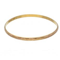 orientalisch verzierter Armreif für Damen aus 585 Gelbgold (14k)