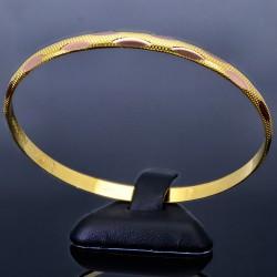 modern designter Kinder-Armreif aus 585 Gelbgold (14k) - ca.  4,9 cm Durchmesser