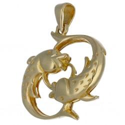 Goldanhänger für Damen mit Koi-Motiv (585er Gold 14k)