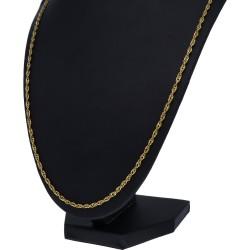 edle Zopfkette mit Karabinerverschluß für Damen aus 14 karätigem Gold 585 (14 K) 70cm Länge