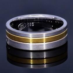 wunderschöner Ring (Ehering, Trauring oder auch Verlobungsring)- Größe 53-54 aus 585er Weißgold und Gelbgold