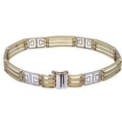 hochwertiges Goldarmband aus Gold (Bicolor Weiß- und Gelbgold 585, 14K) ca. 20cm Länge