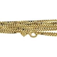 sehr lange, schöne Damenkette aus edlem 14 Karat Gold (585) 70cm Länge