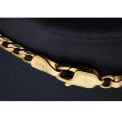 zeitlose, goldene Panzerkette aus massivem  14 karätigem Gelbgold (585) 56,5cm Länge