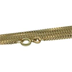 Extra lange Venezianerkette aus hochwertigem 585er Gelbgold (14K) 71,5cm Länge