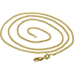 Dünne Gelbgoldkette für Damen in 45 cm Länge aus 585er Gold (14k)