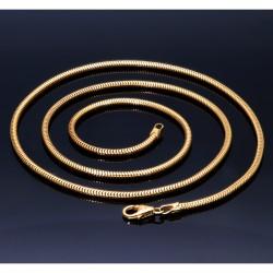 Schlangenkette aus 585er (14k) Gelbgold in 60 cm ca. 17,6g
