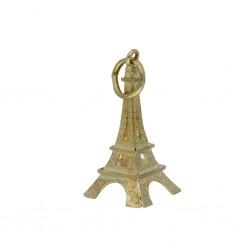 Eiffelturm-Anhänger aus Gelbgold (585er Gold, 14k); Tour Eiffel pendentif