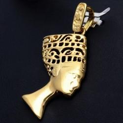 Nofretete-Goldanhänger für Damen (585er Gold 14k)