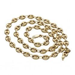 Bohnenkette aus 585er (14 Karat) Gelbgold (ca. 60 cm; 19,6g)