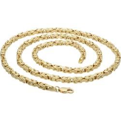 Königskette aus 585er Gelbgold (14k)- 65cm lang, 4 mm breit, 25g