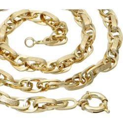 Goldene Damenkette mit Greco-Design-Elementen 585er Gelbgold (14k), 50 cm Länge