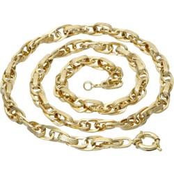 Goldene Damenkette mit Greco-Design-Elementen 585er Gelbgold (14k), 55 cm Länge
