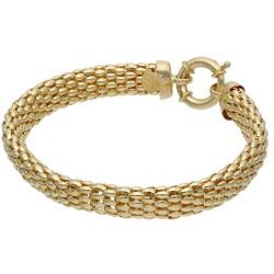 Damenarmband aus feinen Gliedern 14K Gelbgold 585er, 18cm Länge