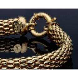 Damenarmband aus feinen Gliedern 14K Gelbgold 585er, 19cm Länge
