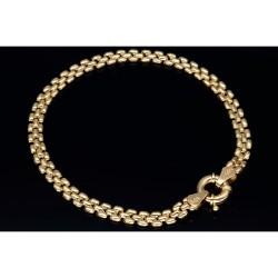 Feines Damenarmband aus 585er (14k) Gelbgold in 19 cm Länge
