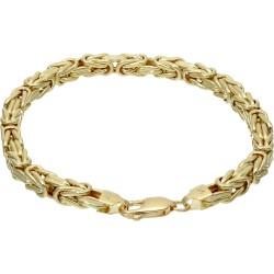 Goldenes Königsarmband (585er 14k), 5mm breit, 21,5cm lang