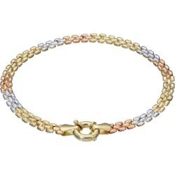 doppelseitig tragbares Damenarmband aus 585er (14k) Gold ca. 19cm lang