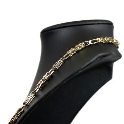 Goldkette im Greco- & und Königs-Design aus 585er Gelbgold (14k)