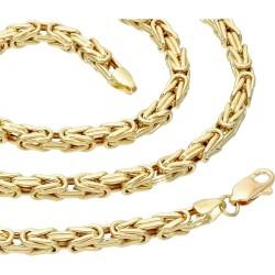 Königskette aus 585er Gelbgold (14k)- 50cm lang, 4 mm breit, 19,3g
