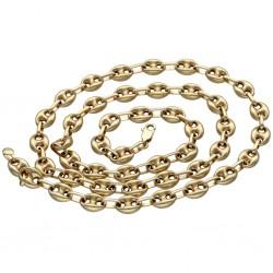 Bohnenkette aus 585er (14 Karat) Gelbgold (ca. 62 cm; 15,4g)