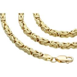 Königskette aus echtem 14-Karat Gold (50 cm lang, 3mm breit)
