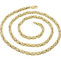 Königskette aus echtem 14-Karat Gold (60 cm lang, 3mm breit)