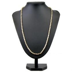 Königskette aus echtem 14-Karat Gold (65 cm lang, 3mm breit)