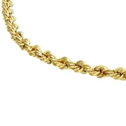 Kordelkette aus Gelbgold für Damen in 45 cm Länge aus 585er Gold (14k)