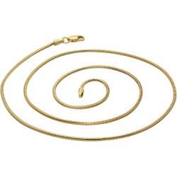 kurze Schlangenkette für Damen aus 585er (14k) Gelbgold in 45 cm ca. 4g