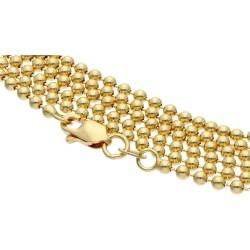 Goldene Kugelkette aus 14k (585) Gelbgold in 55 cm Länge (2 mm breit)