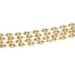 Bohnenkette aus 585er (14 Karat) Gelbgold (ca. 61 cm; 6 mm, 15,5g)