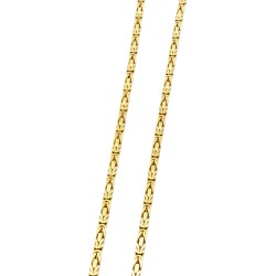 dünne Königskette aus hochwertigem massivem 585er Gold (14 Karat) in 51,5cm Länge; ca. 2mm breit