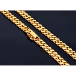 Damencollier aus 585er (14k) Gelbgold im gespiegelten Design ca. 45,5cm Länge