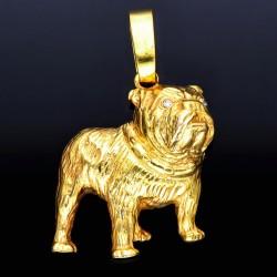 Hunde-Fans aufgepasst: Bulldogge-Anhänger aus Gelbgold (585er Gold, 14k)