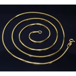 Venezianerkette aus 585er Gelbgold (14 Karat) in 70 cm Länge