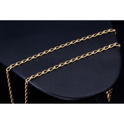 schlichte Gelbgoldkette aus feinen Gliedern in 585er (14k) Gold in 50 cm Länge für Damen