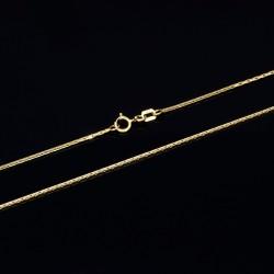 eng gemusterte, hauchzarte Ankerkette in 50 cm Länge aus 585er 14k Gelbgold