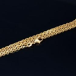 45 cm lange Ankerkette aus 585er 14k Gelbgold - Rundankerform - sehr schmal