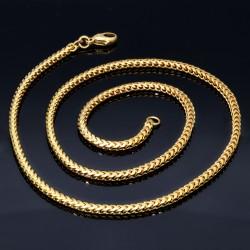 edle Gelbgoldkette für Damen in 45 cm Länge aus 585er (14k) Gelbgold