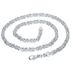 massive, diamantierte  925 Sterling-Silber Königskette (127,2g 65cm Länge 6mm Breite)