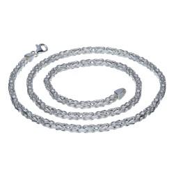 massive, diamantierte 925 Sterling-Silber Königskette (52,6g ; 60cm Länge, 3,9mm Breite)