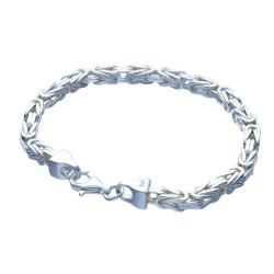 Königsarmband aus massivem 925er Sterling - Silber (25 g, 20 cm Länge, 4,7 mm Breite)