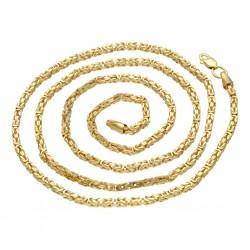 Königskette aus echtem 14-Karat Gold (60 cm lang, 2 mm breit)